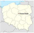 Map of Nowe Biala (Poland).png