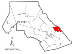 Map of Pine Creek Township, Clinton County, Pennsylvania Highlighted.png