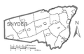 Map of Snyder County, Pennsylvania No Text.png