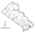 Map of Tullytown, Bucks County, Pennsylvania Highlighted.png
