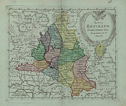 Map of Vyatka Namestnichestvo 1796 (small atlas).jpg