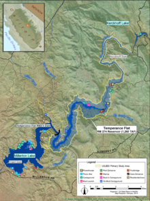 Map of proposed Temperance Flat Dam and reservoir.png