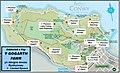 Map yn dangos lleoliadau 13 o ffynhonnau ar Ben y Gogarth, Llandudno.jpg