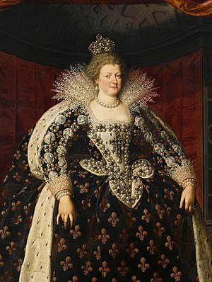 Marie de' Medici - Image: Maria de' Medici Frans Pourbus the Younger (detail)