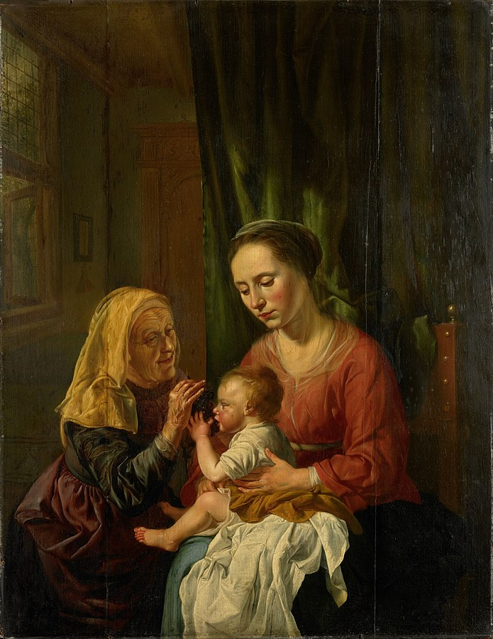 Virgin and Child with St Anne