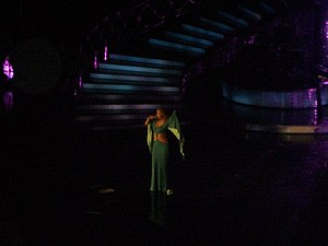 "Rainbow (Mariah Carey album) - Carey performing the single ""Thank God I Found You"" during her Adventures of Mimi Tour in 2006."