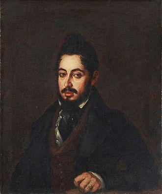 Mariano José de Larra - Portrait by José Gutiérrez de la Vega