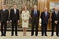 Mariano Rajoy asiste a la jura del gobernador del Banco de España. Pool Moncloa. 11 de junio de 2012.jpeg
