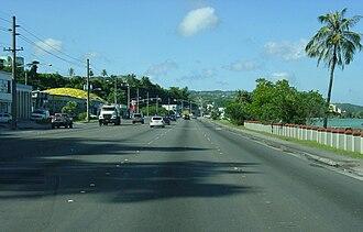 Guam Highway 1 - Marine Corps Drive on Guam
