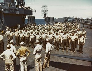 Marines on USS Cowpens (CVL-25) 1943.jpg