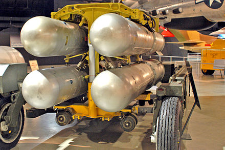 Set of four B28FI thermonuclear bombs of the same type as those in the accident at Thule Mark 28 Thermonuclear Bomb.jpg