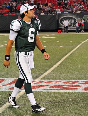 Mark Sanchez in his New York Jets uniform.