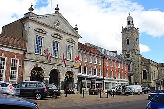 Blandford Forum - Image: Market Place, Blandford Forum, 2015 (a)
