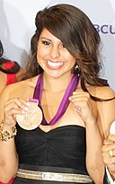 Marlen Esparza - Olympic Medal winner at ALMA Awards (cropped).jpg