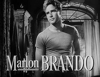 Method acting - Marlon Brando's performance in Elia Kazan's film of A Streetcar Named Desire exemplified the power of Stanislavski-based acting in cinema.