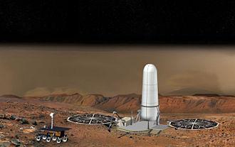 Mars sample-return mission - Ascent vehicle in its protective shroud, 2009 ESA-NASA design.