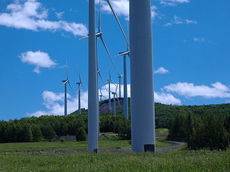 Wind power in Maine - Mars Hill wind farm.