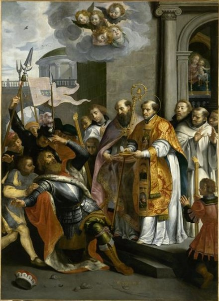 Saint Bernard and the Duke of Aquitaine, by Marten Pepijn Marten Pepijn - Saint Bernard and the Duke of Aquitaine.jpg