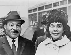 Martin Luther et Coretta Scott King, 1964.