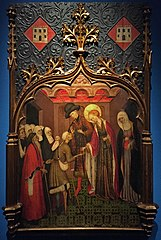 Santa Llúcia repartint almoines