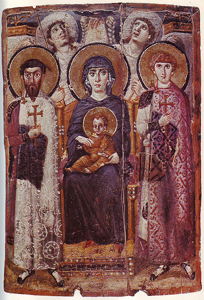 File:Mary & Child Icon Sinai 6th century.jpg