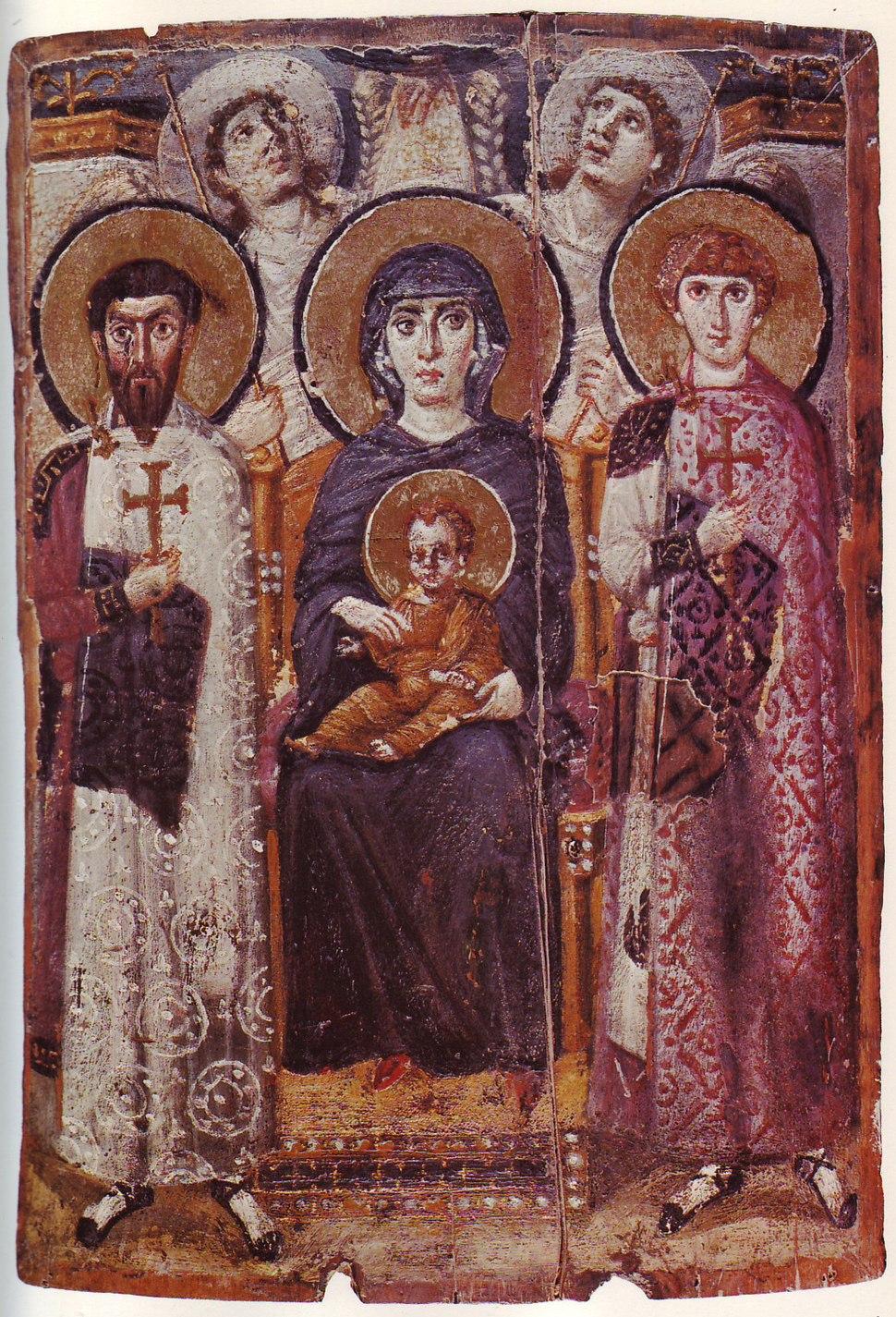 Mary & Child Icon Sinai 6th century