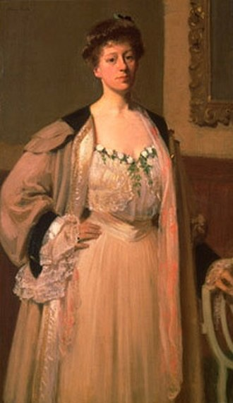 Mary Foote - Mary Foote, Portrait of Mrs. Wilfred Worcester, oil on canvas, 50.5 x 30 inches, c. 1898-1901