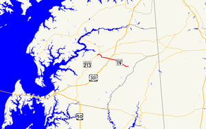 Maryland Route 19 - Image: Maryland Route 19 map