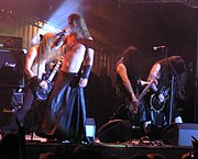 Finntroll is a prominent folk metal band with a specific interest in trolls and humppa.