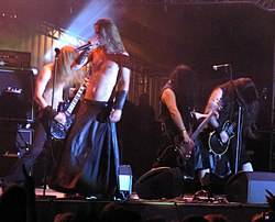 Finntroll during concert on Masters of Rock 2007 festival.