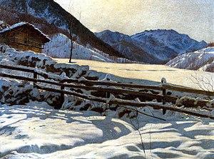 Matteo Olivero - Image: Matteo Olivero, Solitudine, 1908