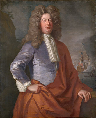 Matthew Aylmer, 1st Baron Aylmer - Attributed to Jonathan Richardson, c.1692 (NMM)