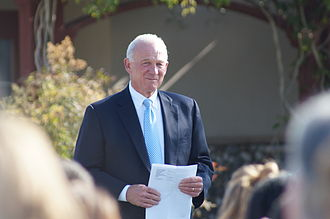 Jerry Sanders (politician) - The Mayor waiting to speak at the graduation ceremony of the San Diego Center for Children, 2012