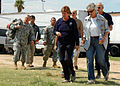Mayor of Galveston, FEMA associates prepare to fly aboard USS Nassau for capabilities, limitations meeting DVIDS116119.jpg