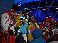 Medalists for the Women's Visually Impaired Biathlon, their guides also get medals!.jpg