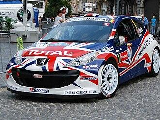 Kronos Racing - Kris Meeke during the 2010 Ypres Rally.