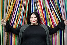 Elison, at the San Francisco pop-up art exhibit Color Factory, 2017.
