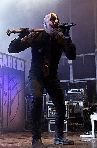 "Megaherz - Singer Alexander ""Lex"" Wohnhaas at Nocturnal Culture Night festival 2016"
