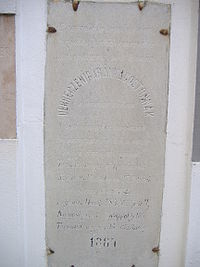 Memorial tablet Debreczeni Bárány Ágoston.JPG