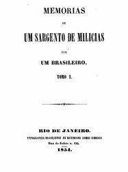 Manuel Antônio de Almeida: Memorias de um sargento de milicias