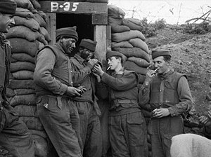 1st Commonwealth Division - Soldiers of Duke of Wellington's Regiment the Battle of the Hook, 1953