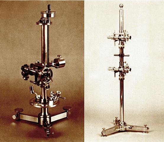 Катетометр и компаратор, сделанные известным французским механиком Саллероном для Д. Менделеева