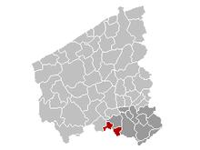 Location of Menen in West-Flanders