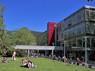 University of Marburg - One of the two large university cafeterias and canteens is located on the bank of the Lahn river