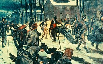 5th Field Artillery Regiment - Trenton, New Jersey, 26 December 1776. General Washington here matched surprise and endurance against the superior numbers and training of the British, and the Continental Army won its first victory in long months of painful striving. Trenton eliminated 1,000 Hessians and drove the British from their salient in New Jersey. It saved the flagging American cause and put new heart into Washington's men. Alexander Hamilton's Company of New York Artillery (now 1st Battalion, 5th Field Artillery) opened the fight at dawn, blasting the bewildered Hessians as they tried to form ranks in the streets.