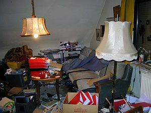 English: Living room from a person with compul...