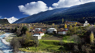 Mestia, Georgia — View of Mestia, Svaneti.jpg