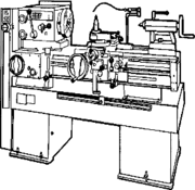A metalworking lathe