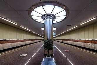 Kotelniki (Moscow Metro) - Image: Metro MSK Line 7 Kotelniki (img 1)