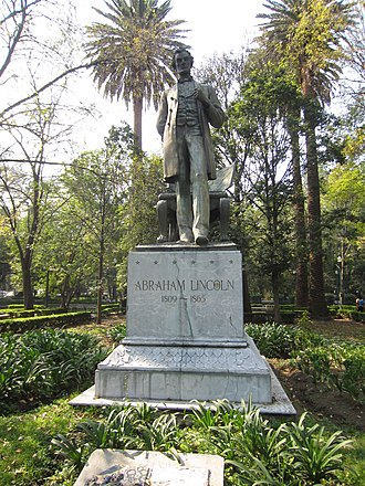 Abraham Lincoln: The Man - Replica of the statue (c. 1964) in Parque Lincoln, Mexico City